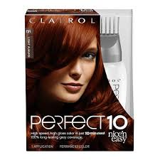 clairol nice n easy natural light auburn nice n easy perfect 10 permanent haircolor light auburn 006r