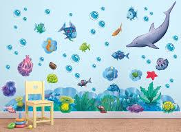 rainbow fish ocean friends wall decal