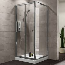 plumbsure square shower enclosure with bi fold door w 800mm d