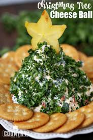 christmas tree shaped cheese ball the country cook