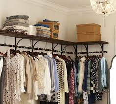 closet rods brackets and shelf organize it within clothes rack