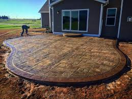 Colored Concrete Patio Pictures Stamped Concrete Contractor Appleton Oshkosh Green Bay Spencer