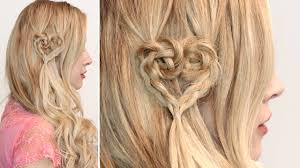lilith moon youtube braided heart hairstyle cute hair tutorial for short medium