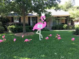 50th birthday yard card flamingo storks and more of dallas and