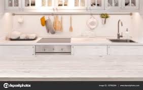 Kitchen Table Top Tiles Kitchen Table Top And Blur Background Of Cooking Zone Interior