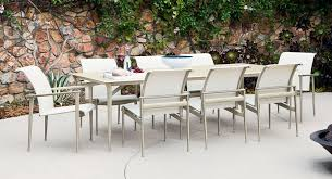 Sling Patio Dining Set Intricate Sling Outdoor Furniture Aluminum Patio Today S Pool