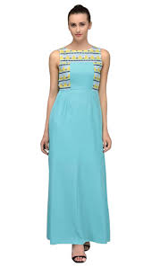 buy light blue casual maxi dress kurti online
