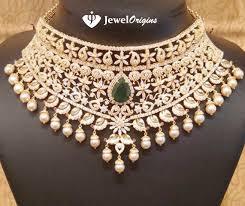 bridal choker necklace images Bridal cz choker designer gold and jpg