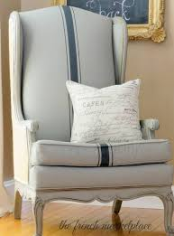 How To Reupholster A Wingback Armchair Using Chalk Paint To Paint Your Couch Or Wing Back Chair The