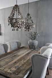 Barn Wood Dining Room Table Stunning Dining Room Features Silver Gray Wall Color Alongside A