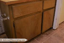 Molding Kitchen Cabinet Doors Adding Molding To Cabinet Doors Before And After Nrtradiant Com