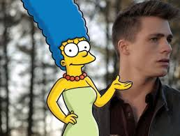 Marge Halloween Costume Colton Haynes Channels Marge Simpson Halloween