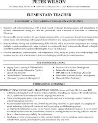 elementary teacher resume sample teaching pinterest