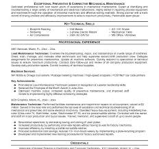 maintenance technician resume maintenance tech resume mechanical maintenance engineer sle