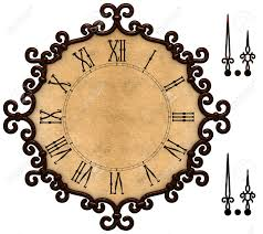 Old Fashioned Picture Frames Old Fashioned Clock With Victorian Style Metallic Frame Grunge