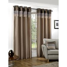 seattle eyelet lined curtains natural 122 x 137cm at wilko com