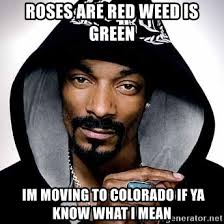 If Ya Know What I Mean Meme - roses are red weed is green im moving to colorado if ya know what i