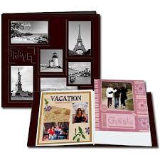 12 X 12 Photo Album Pioneer Brown Travel 12 X 12 Ez Load Sewn Leatherette Frame Album