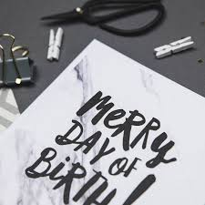 merry day of birth birthday card by i am nat