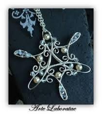 silver blue snowflake decoration set decoration