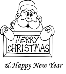 santa merry christmas and new year coloring pages coloring pages