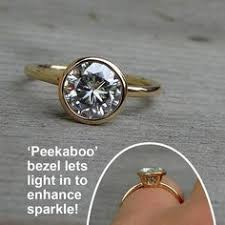 beveled engagement ring gold bezel set engagement ring here comes the