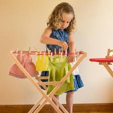kids wooden clothes horse in pretend play u2013 nova natural toys u0026 crafts