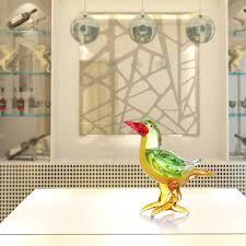 pheasant home decor best and cheap green tooarts red beak bird glass sculpture home