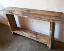 rustic country primitive hand crafted foyer hall table with