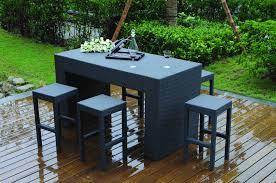 salon de jardin haut de gamme resine tressee table haute jardin salon de jardin terrasse maisonjoffrois