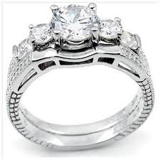plain band engagement ring sterling silver cut three engagement ring and plain