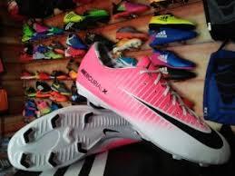 Sepatu Bola Grade Ori grosir sepatu bola nike mercurial pink putih list hitam grosir