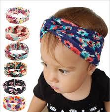 cloth headbands baby girl cross cotton cloth headband new kids flowers