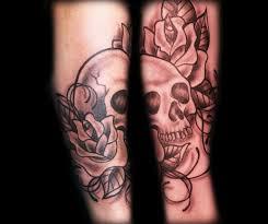 Forearm Skull - skull blackandgrey forearm tattoos