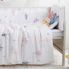 Cot Bedding Set 7pcs Top Quality Baby Crib Bedding Set Cot Bumper Nursery Bed Cot