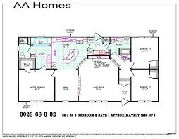 3 Bedroom 2 Bath Mobile Home Floor Plans Aa Manufactured Homes