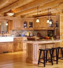 trendy rustic furniture for log cabins using wooden kitchen