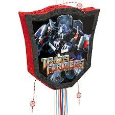 optimus prime pinata transformers of the fallen pull string pinata