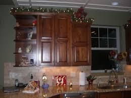 Kitchen Decoration Kitchen Decorating Above Kitchen Cabinets For Christmas Unique