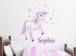 wandtattoos für kinderzimmer wandtattoo zauber pony mit wunschname wandtattoos de