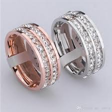 wedding ring brand brand high quality flash row drilling small diamond
