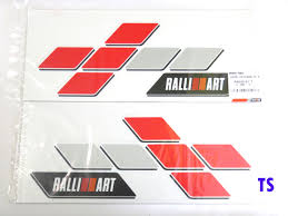 mitsubishi emblem pair sticker tail