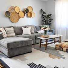 Charcoal Gray Sectional Sofa With Chaise Lounge by Eclectic Leigh On Instagram Boho Living Room Grey Sectional Sofa