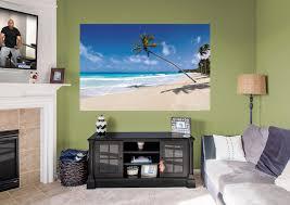 tropical beach mural wall decal shop fathead for general home tropical beach mural fathead wall decal