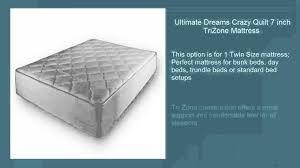 dreamfoam bedding ultimate dreams twin crazy quilt with 7 inch dreamfoam bedding ultimate dreams twin crazy quilt with 7 inch trizone mattress