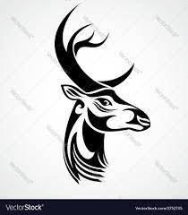 Deer Head by Tribal Deer Head Royalty Free Vector Image Vectorstock