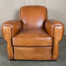 lolo french antiques french art deco leather club chair lolo