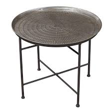 Metal Tray Coffee Table Hammered Metal Tray End Table