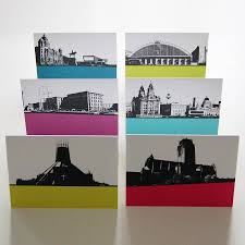 Liverpool Wall Stickers Liverpool Landscape Greeting Cards By The Art Rooms