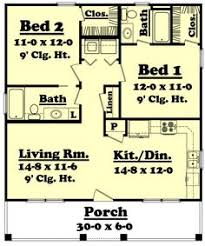 Two Bedroom Ranch House Plans Plan 7410rd Porches Galore Smallest House House And Tiny Houses